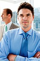 Two businessmen in office, portrait