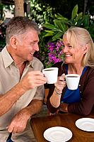 Mature couple having coffee (thumbnail)