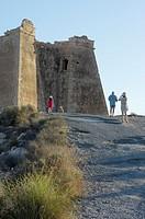 Mesa Roldan watchtower, Cabo de Gata-Nijar Natural Park, Almeria province, Andalusia, Spain