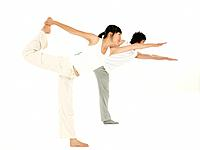 posing, full length portrait, yoga mat, yoga pose, yoga position, asian