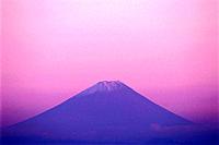 Mt. Fuji in evening light. Nagano Prefecture, Japan