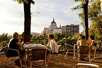Terrace at Las Vistillas, Madrid, Spain