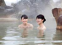 Two Young Women in Hot Spring