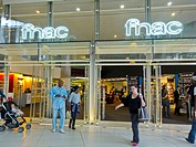 Paris, France, FNAC Department Store Entrance in the CNIT, La Défense Business Center