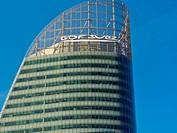 Paris, France, GDF-Suez Corporate Building in La Défense Business Center, Logo, Detail, Top