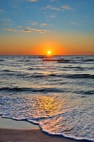 sunset over sea,naples,florida,usa