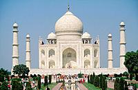 The Taj Mahal was commissioned by Mughal Emperor Shah Jahan as a mausoleum for his favourite wife,Mumtaz Mahal.Construction began in 1632 and was comp...