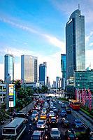 Indonesia, Java, Jakarta, Tugu Selamat Datang Square, Bundaran HI Avenue / Bundaran HI Avenue, Tugu Selamat Datang Platz, Jakarta, Java, Indonesien / ...