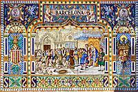 Mosaic, Plaza de España, Sevilla, Andalusia, Spain, Spring 2011 / Mosaik, Plaza de España, Sevilla, Andalusien, Spanien, Frühjahr 2011