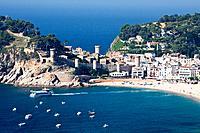 Cala Menuda Beach, Tossa de Mar, Costa Brava, Girona Province, Catalonia, Spain, Spring 2011 / Cala Menuda Strand, Tossa de Mar, Costa Brava, Provinz ...
