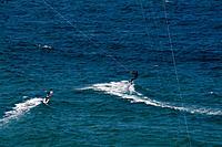 summer beach kitesurf