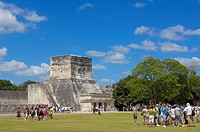 Ball Court. Mayan ruins of Chichen Itza. Mayan Riviera. Yucatan Peninsula. Mexico