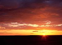 Sahara desert at dawn, Tunisia