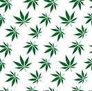 cannabis seamless pattern extended, abstract texture vector art illustration
