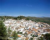 The town of Monda is in the mountains above Malaga,and has a fortified castle on the hilltop. The houses of the town have whitewashed walls and red ro...