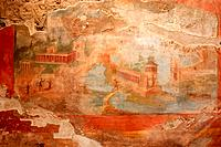 House of the Small Fountain with fresco on wall