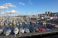 D-Kiel, Kiel Fjord, Baltic Sea, Schleswig-Holstein, Kieler Woche 2011, sailing event, D-Kiel-Schilksee, Olympic Centre Schilksee, port, sailing harbou...