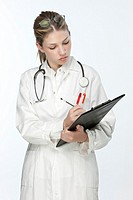 Beautiful young doctor with stethoscope