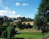 Princess Street gardens. View of National Gallery of Scotland