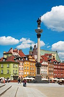 Warsaw, Castle Square, Poland, Europe