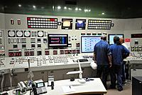 Israel, Hadera, The Orot Rabin coal operated power plant the central control room. All facility activities are monitored and controlled from this room...