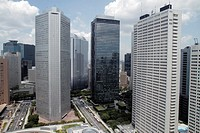 Japan, Tokyo, Shinjuku, skyscrapers, city skyline, Mitsui Building, Sumitomo Building, Keio Plaza Hotel North Tower,