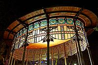 Art deco bandstand on Boulevard Avenue at San Sebastian