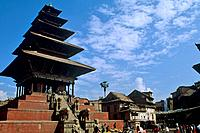 Nyatapola pagoda is an example of Newa architecture and the largest temple in the city.