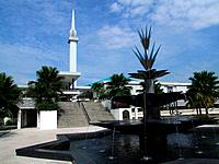 National Mosque. Masjid Negara. Malay Islamic architecture. Modern mosque building. Muslim place of worship.