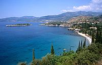 The village of Kardamyli is a resort along the coast of the Mani peninsula in the Peloponeese island group.