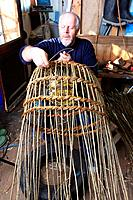 Willow or withy Lobster pots are traditionally used by fishermen for catching lobsters and crabs in Cornwall. They are made using flexible branches of...