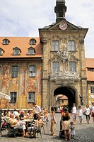 Germany, Bavaria, Bamberg, Altes Rathaus, Old Town Hall.