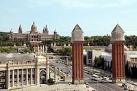 Plaza de Espana, Barcelona, Catalonia, Spain