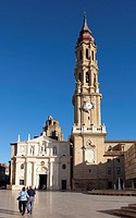 El pilar square, Zaragoza, Aragon, Spain