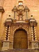 Facade of the Church of Santa Maria la Mayor, Alcorisa, Teruel province, Aragon, Spain