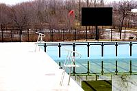 Canada, Quebec, Montreal, Saint Helen's island, parc Jean Drapeau, pool