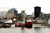 Canada, Quebec, Montreal, old port, view from cite du Havre