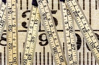 digital enhancement - ruler with metric and inch system