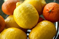 close_up of a bowl of healthy citrus fruit