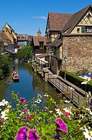 Colmar, Little Venice, La Petite Venise, Alsace, Wine Route, Alsace Wine Route, Haut-Rhin, France, Europe.