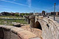 The Bridge of Piramides.Manzanares river project. Madrid, Spain