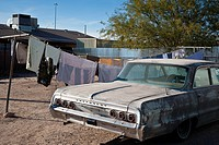 Old Chevrolet car in old suburb of Tucson Arizona, USA