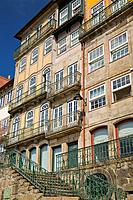architecture in old section of city, porto, portugal
