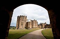 the alnwick castle, most famously known as hogwarts castle in the harry potter series, alnwick, england