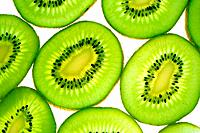 Juicy kiwi slices