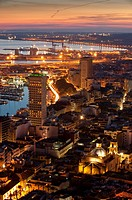 Night view of Alicante city  Alicante province, Valencian Community, Spain, Europe