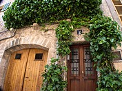 Natural door at Valldemossa, Mallorca, Spain.