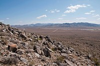 mountains of the mojave desert outside of victorville, california, united states of america