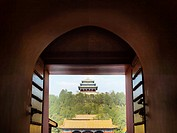 jingshan park from the forbidden city, beijing, china