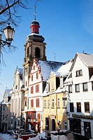 buildings with snow on them in winter, hachenburg rheinland_pfalz germany